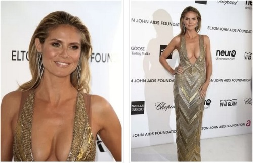 Heidi Klum wasn't on the red carpet for the 2013 Academy Awards but she definitely brought the girls out to play at Elton John's charity Oscars viewing event. Wowza!