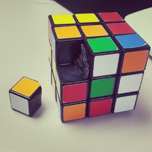 I've solved it so many times that it broke!