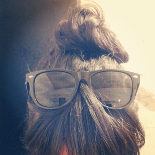Mr. Bangs is on the mood #dailylife #franm #sunglasses #hair #bunhead #bangs #tuesday