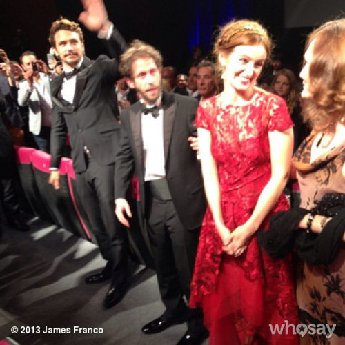 After the Cannes premiere - standing ovation :)))View more James Franco on WhoSay