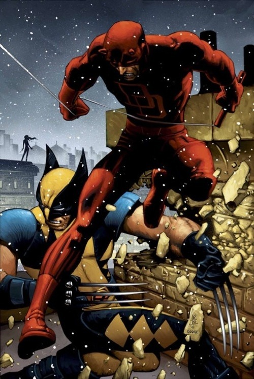 Wolverine and Daredevil by John Romita Jr.