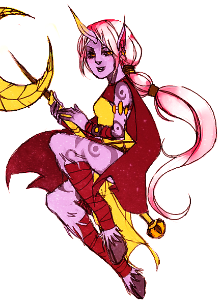 I was feeling real upset earlier so I doodled a Soraka on Tegaki in hopes that it would make me feel better. I ended up scolding myself for not working on commissions instead, so it didn't help me feel any better at all. I thought I'd throw some color on it and post it though. I'll do a stream tomorrow in hopes that I'll be able to focus on commissions, whether or not anyone comes to watch.