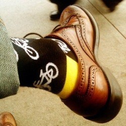 #Bike #socks #wingtips #yellow