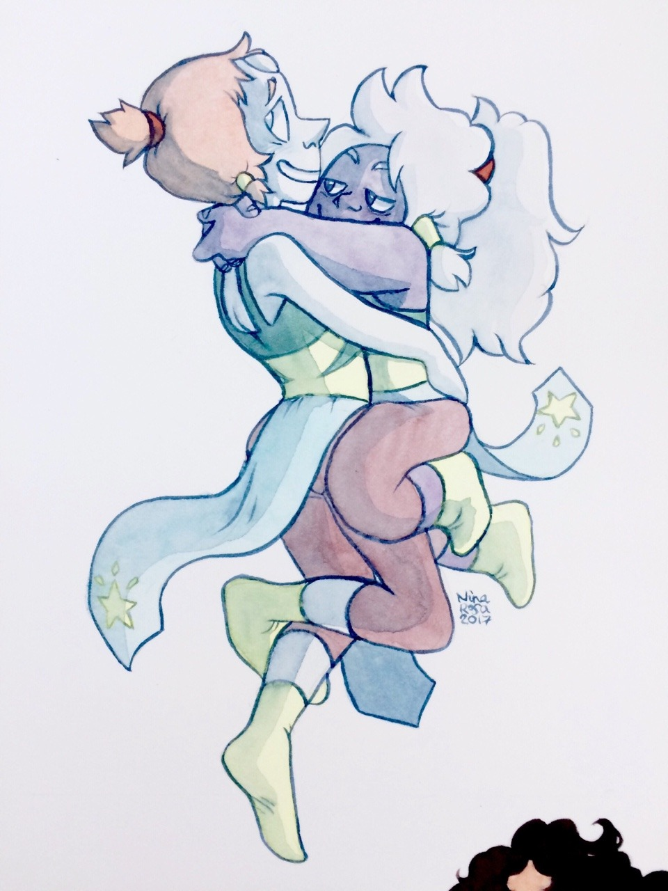 It has been a long time since I didn't drew some Pearlmethyst