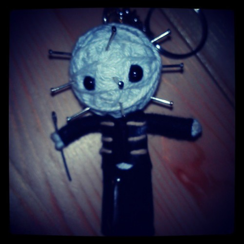 I can carry a bit of hell in my pocket! Little #pinhead #keychain from #hellraiser movies.