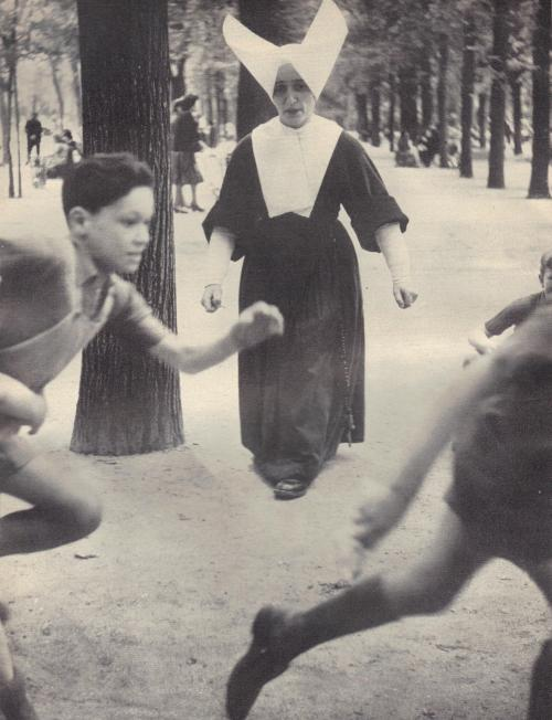 Sunday. Nunday. Recess by Kurt E. Svensson. … scanned from Photography Annual, 1954 Edition. A Selection of the World's Greatest Photographs by the Editors of Photography magazine.
