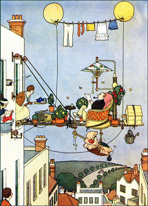 William Heath Robinson (31 May 1872 – 13 September 1944) was an English cartoonist and illustrator, best known for drawings of eccentric machines