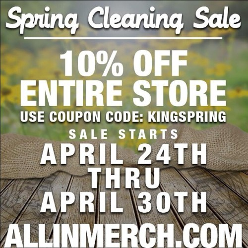 10% off our entire Merch store! Get on it. http://www.allinmerch.com/category/MDAM.html