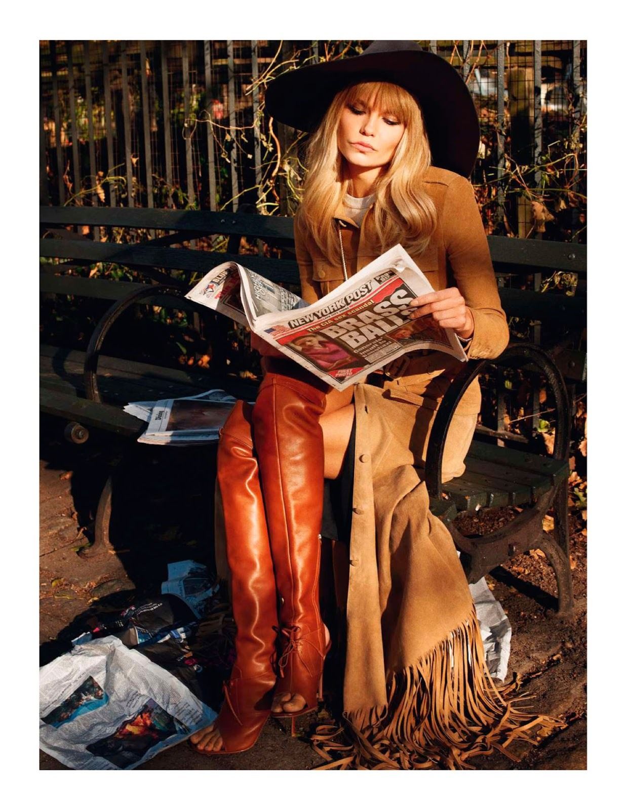 """I Love NY"". Natasha Poly by Terry Richardson. Vogue Paris, February 2013."