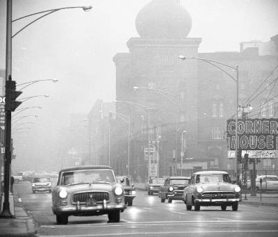 Looking west on Ohio from Rush, 1963, Chicago