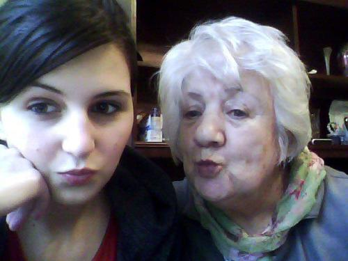 My nan asked me if i'd pose with her hahahaha