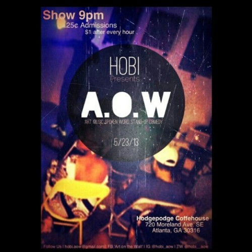 AOW is back tomorrow night…. ita always a great experience. Shoutout to the squad @kmagz08 @hobi_studios @super_haitian @theevolutionofshe @tmogul_live @ramontaylor and all of the others that hold it down  but I just can't think of your ig names.  Lol! #TEAMHOBI