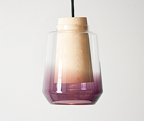krgkrg:  Glass and wood 'In theory' lamp by Marianne Anderson