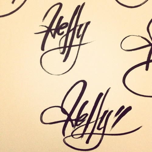 What's up with all you and your difficult names. Lol. #calligraphy #type #typography #lettering #sketchbook