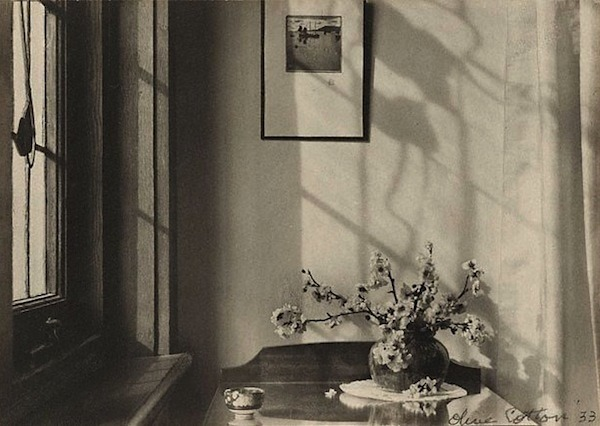lauramcphee:  Interior (My Room), 1933 (Olive Cotton)   'If [my] interest in light and line, form and composition and, a further element of meaning, a feeling, all came together (no matter what the subject) that for me was a moment of great excitement.' Olive Cotton