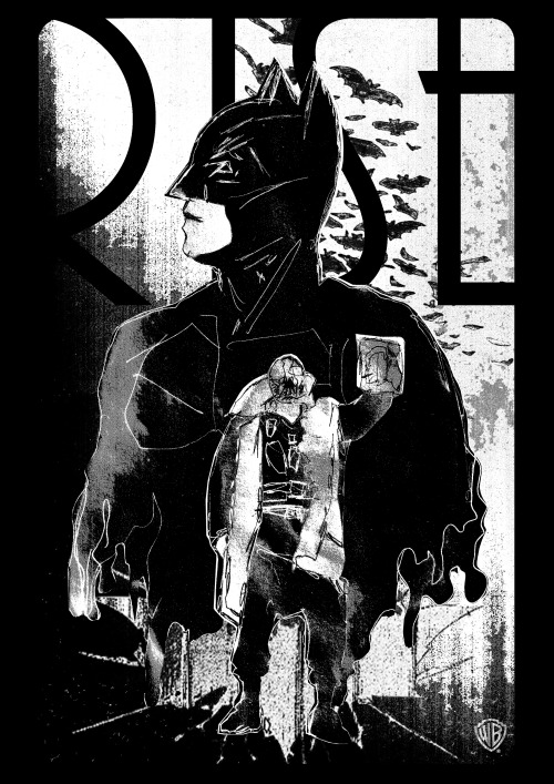 The Dark Knight Rises alternative movie poster designed by Russell Ford