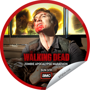 I just unlocked the Zombie Apocalypse Marathon: Day 7 sticker on GetGlue                      1401 others have also unlocked the Zombie Apocalypse Marathon: Day 7 sticker on GetGlue.com                  We're counting down to The Walking Dead's Season 3 finale, tonight at 9/8c. Thanks for watching! Share this one proudly. It's from our friends at AMC.