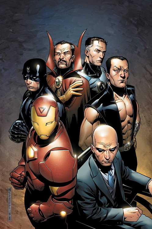 "Favourite Team - The Illuminati (Mr. Fantastic, Namor, Iron Man, Doctor Strange, Black Bolt, Beast has now replaced a deceased Professor X, and Black panther has now joined, along with Captain America) They are a secret ""think-tank"" of individuals from across the Marvel universe. Representing science, Atlantis and the seas and oceans, industry and heroics, the mystic arts and magic realms, the inhumans, the mutants and Wakanda. For years they have aimed to shape the world form the shadows, making important decisions, working in a ""democracy"". With equal say in affecting the world of heroes, science and magic, as well as humanity."