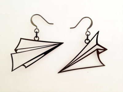 Paper Plane Earrings http://goo.gl/xGtIU #design #earrings #trends #news #ideas #projects #Fab #buy