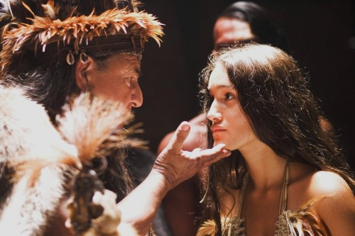 Q'Orianka Kilcher as Pocahontas in The New World (2005).