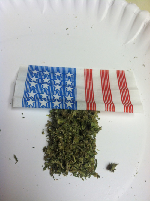 Smokin the American flag tonight :)