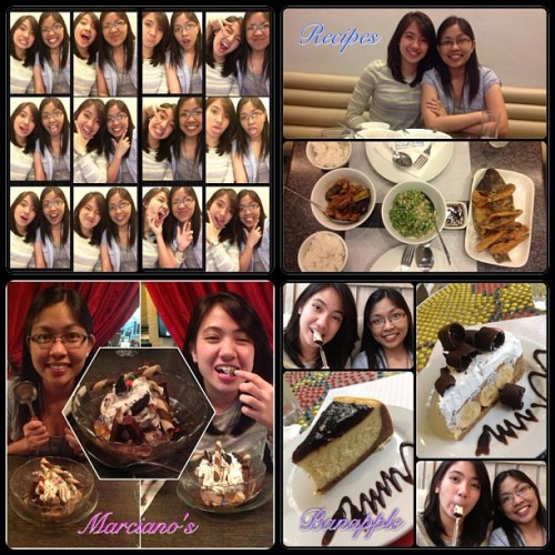 A day with myfriend. March 10, 2013 - Celebrating 1year of friendship. =)))) <biruin mo yun> Lunch at Recipes, Robinsons Place ManilaDessert at Marciano's, Greenbelt3 MakatiMerienda at Banapple, Ayala Triangle Makati