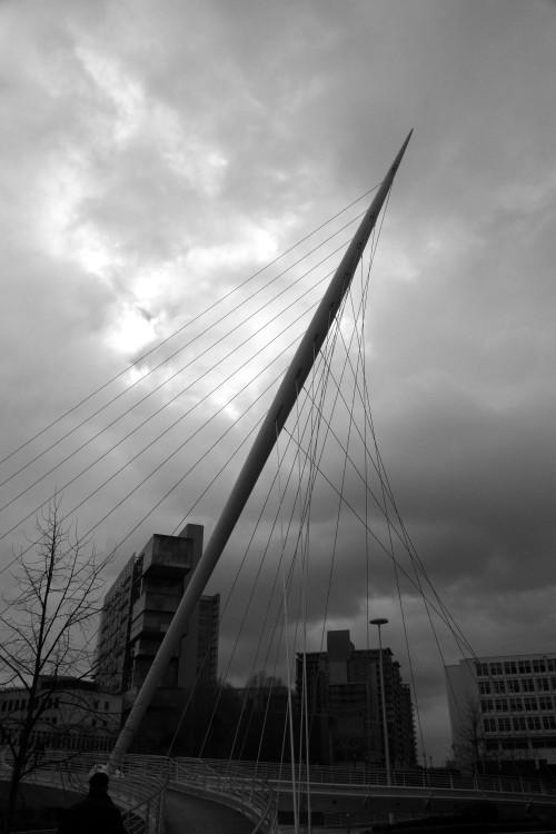 Santiago Calatrava's Trinity Bridge. Manchester, February 2013.