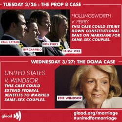 There's a lot at stake this week at the Supreme Court. http://glaad.org/marriage
