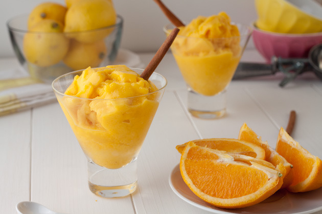 superveggie:  2-Minute Mango Citrus Sorbet RECIPE