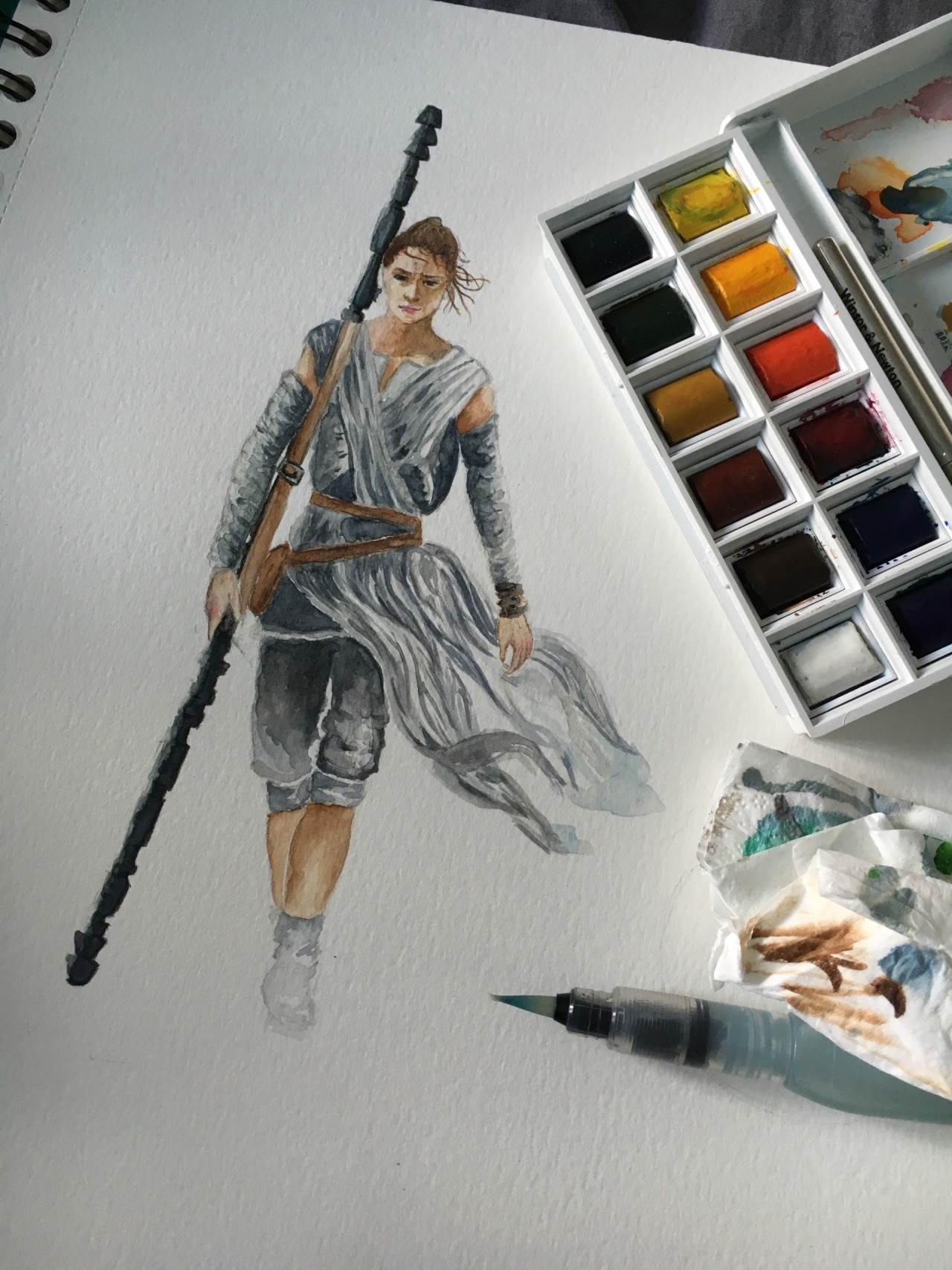 Rey in watercolors