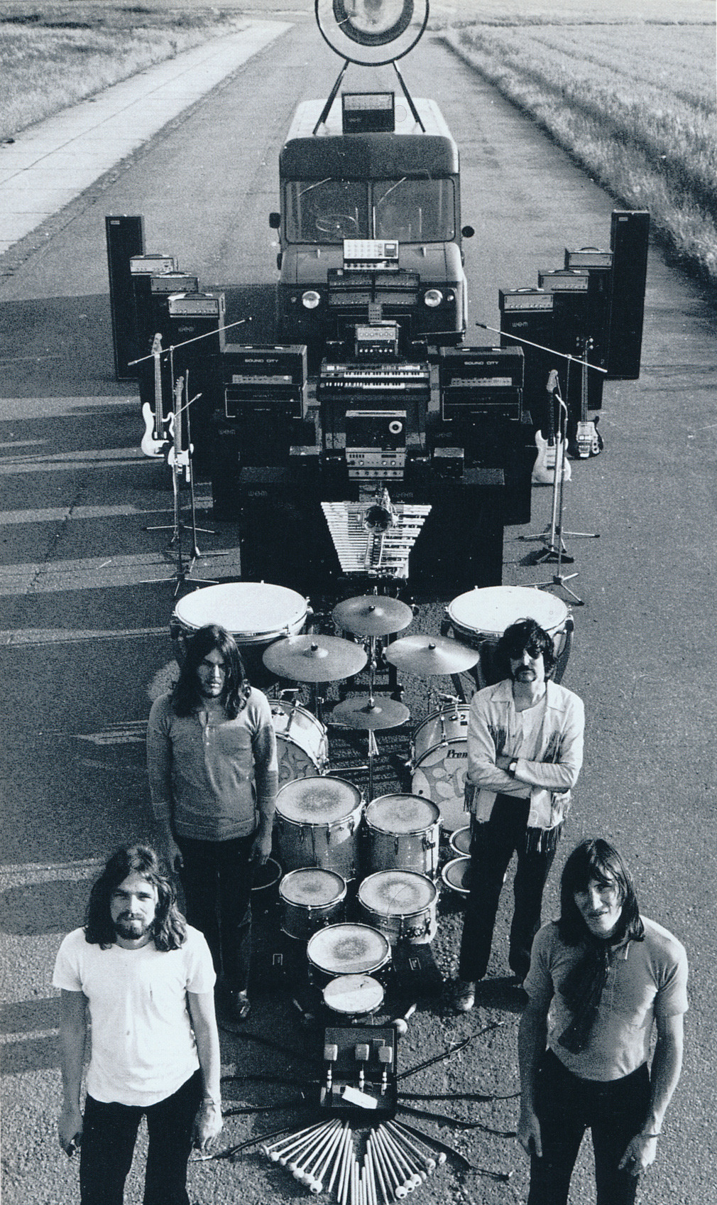 pinkfloyded:  Pink Floyd posing for a photo that did not make it into the Ummagumma LP album cover.