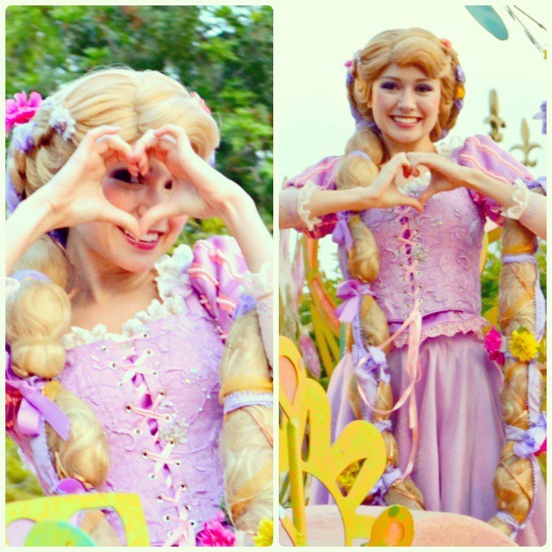 Hearts from Rapunzel #Rapunzel  #tangled  #soundsational #mickeyssoundsationalparade #parade #Disneyland #Disney