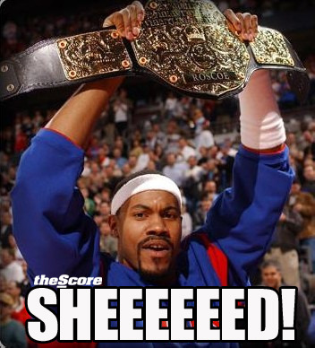 "Photo: Rasheed Wallace retired from the NBA this morning. One last: ""SHEEEEEEED!"""