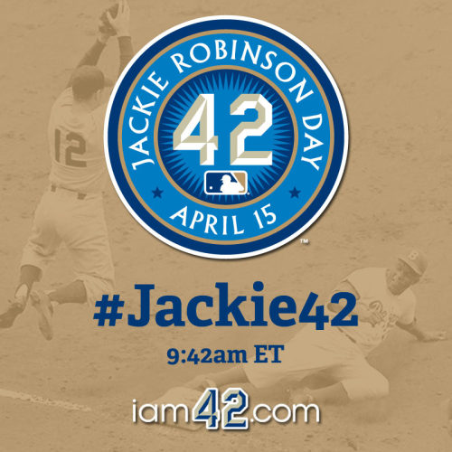 mlb:  This morning at 9:42 AM EST, join us on twitter in commemorating Jackie Robinson Day with a worldwide Twitter thank you.  You can choose to do the twitter part, but thanking the man is a great idea.