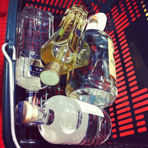 kendragarden:  Early morning grocery shopping. (at BevMo!)  Why does this look like Star Wars except with booze?