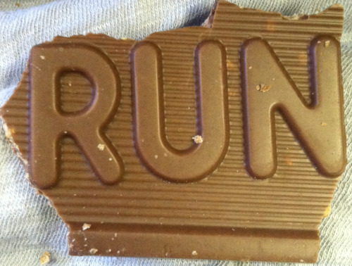 runningxctf:  runningxctf:  My crunch bar is trying to tell me something.  Reblogging with the right source….I paid for that crunch bar, I deserve the credit!