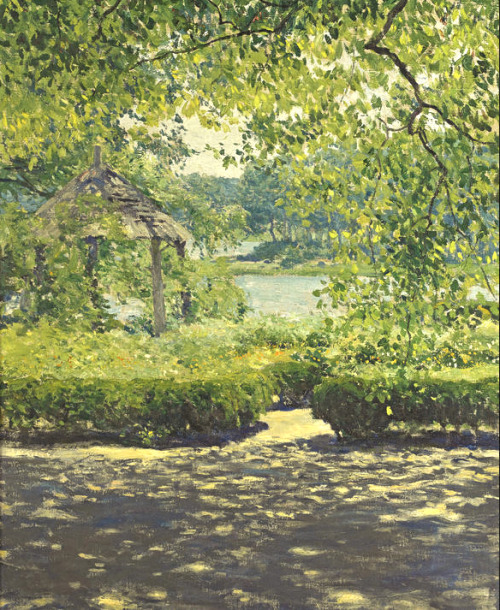 paintingbox:  Guy Rose (1867-1925). At Duck Cove. Oil on canvas, 29 x 24 in.
