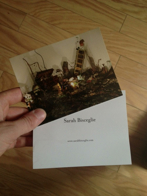Post cards for my very talented friend Sarah who I've worked with photographing her works for the past two years. She just graduated from PAFA in Philadelphia last week. The image on the cards was shot by me.