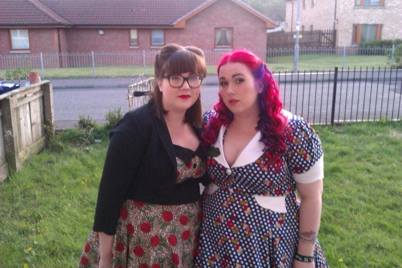 feistyfatties:  My best friend Sam and I, forever feisty fatties ♥