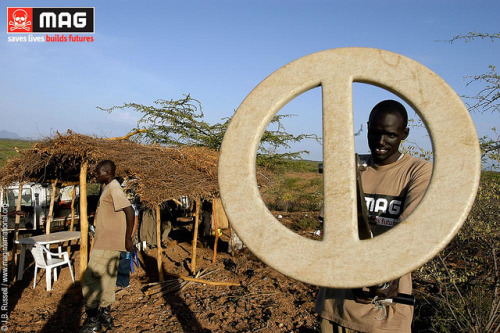 Pic of the Day: Deminers at the Kaitap minefield in South Sudan, a former SPLA stronghold and logistics base during the long civil war  [Kapoeta, South Sudan, 2009] The site is 800 metres from a small village, and widely used for grazing and transit of animals by local residents.