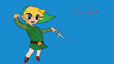 "Toon Link  from ""The Legend of Zelda - Wind Waker"" game"