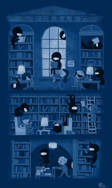 Silence in the Library by Anna-Maria Jung