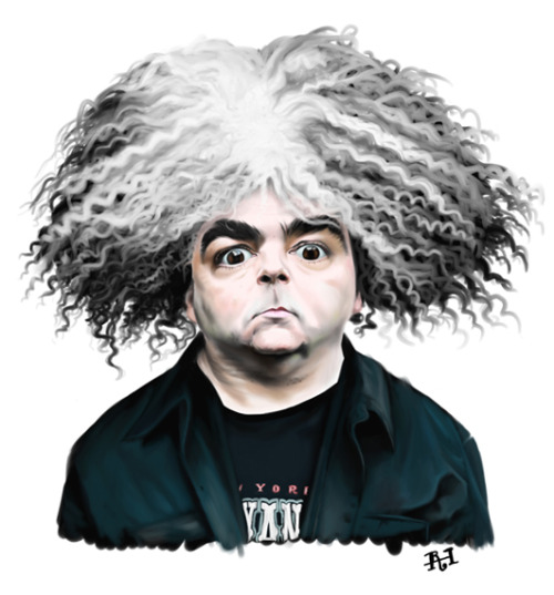 The Melvins' Buzz Osborne submits to the Geek Music Survey. (Illustration by Rob Harrison)
