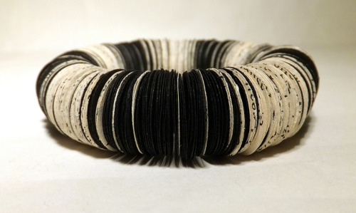 Fibonacci bracelet on Flickr.Made using Fibonacci sequence to make the stripes.
