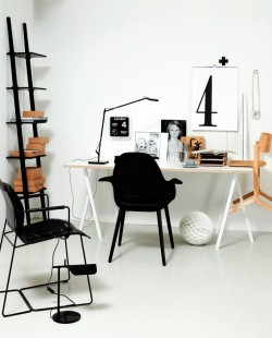 myidealhome:   black and white is always a good solution