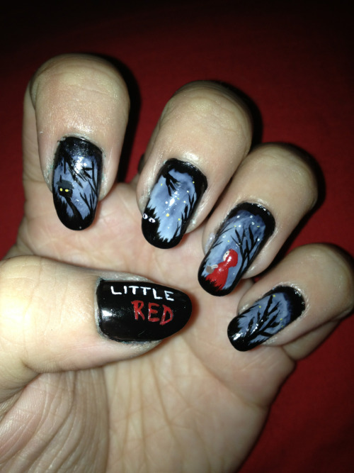 thefailnail:  Little Red Riding Hood Nails