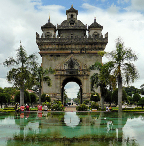 illusionwanderer:  The Arc de Triomphe of Vientiane, Laos  (by B℮n)