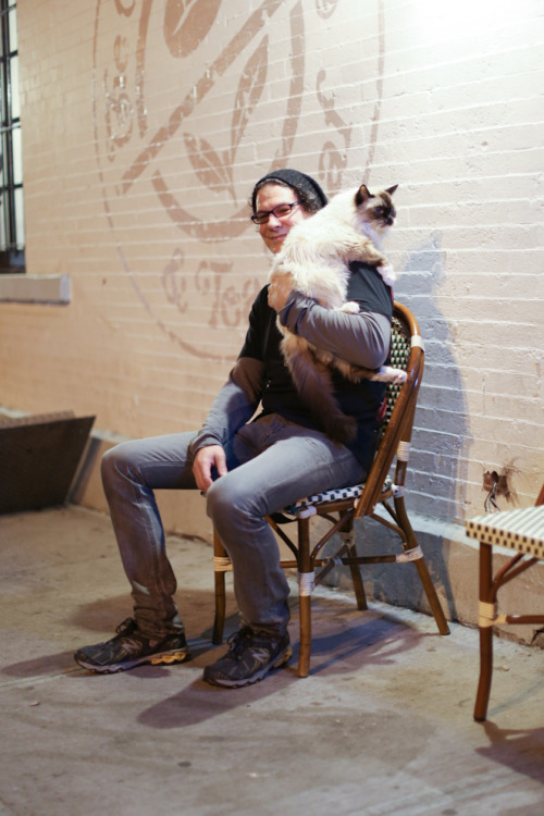 "humansofnewyork:  ""He's twenty years old. I try to take him outside whenever I can so that he can have some new experiences before, you know…""  HOW CUTE"