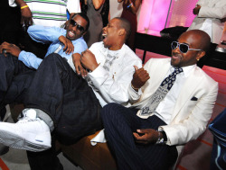 Jay-Z, Diddy, and Jermaine Dupri.