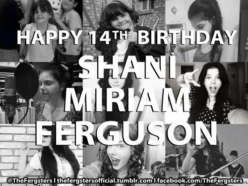 thefergstersofficial:  HAPPY BIRTHDAY SHANI! x